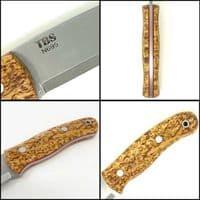 Mk II TBS Boar Bushcraft Knife - Standard Sheath - Curly Birch